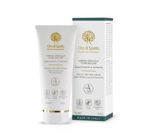 """ORO DI SPELLO Intensyviai drėkinantis ir maitinantis kremas ypač sausoms kūno vietoms """"Special Dry Skin Cream"""" 100 ml"""